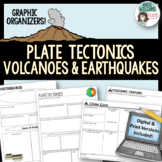 Plate Tectonics / Earthquakes / Volcanoes ~ Graphic Organi