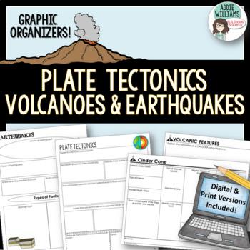 Plate Tectonics / Earthquakes / Volcanoes ~ Graphic Organi