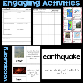 Plate Tectonics - Earthquakes, Volcanoes & Mountains - 4th Science Stations