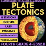 Plate Tectonics - Earthquakes, Volcanoes & Mountains BUNDLE - 4th Science