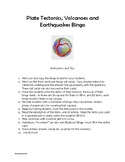 Plate Tectonics, Earthquakes and Volcanoes Bingo