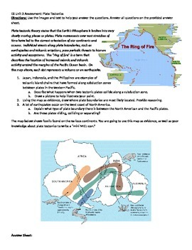 Plate Tectonics Evidence Based Assessment