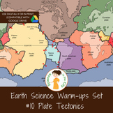 Plate Tectonics, Exit Ticket or Bell Ringer Task Card Set