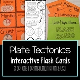 Plate Tectonics Vocabulary Flash Cards