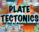 Plate Tectonics Full Unit with Labs and Answer Documents