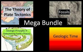 Plate Tectonics, Geologic Principles, Fossils and Geologic Time MEGA Bundle