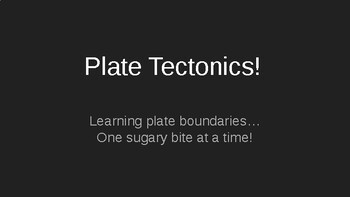 Plate Tectonics - Hands on food lab!