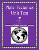 Plate Tectonics Homework Quiz or Test for Earth Science
