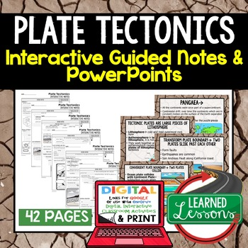 Plate Tectonics Guided Notes & PowerPoints NGSS Google, Interactive