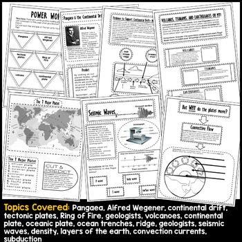 Plate Tectonics Interactive Notebook