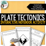 Plate Tectonics Interactive Notebook- Volcanoes, Earthquakes, Plate Boundaries