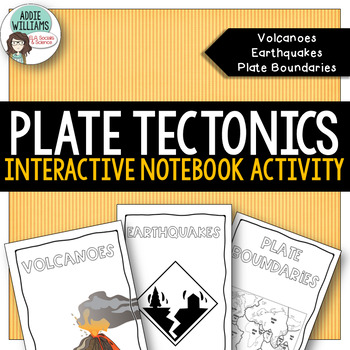 Plate Tectonics Interactive Notebook Volcanoes Earthquakes Boundaries