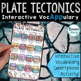 Plate Tectonics Interactive VocAPPulary - Vocabulary App Activity