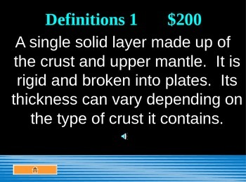 Plate Tectonics Jeopardy PowerPoint Game