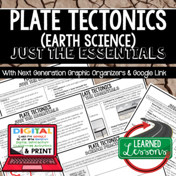 Plate Tectonics Just the Essentials Content Next Generation Science, with Google
