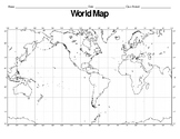 Plate Tectonics: Latitude & Longitude Worksheet; Plotting