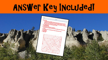 Plate Tectonics No Prep Lesson with Power Point, Worksheet and Word Search
