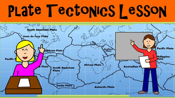 Plate Tectonics No Prep Lesson with Power Point, Worksheet