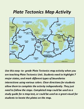 Plate Tectonics Map Activity by Blooming ideas 123 | TpT