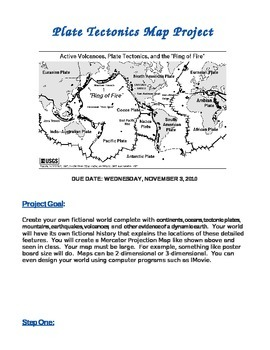 Plate Tectonics Map Project