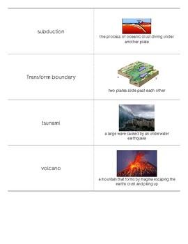 Plate Tectonics Matching Game