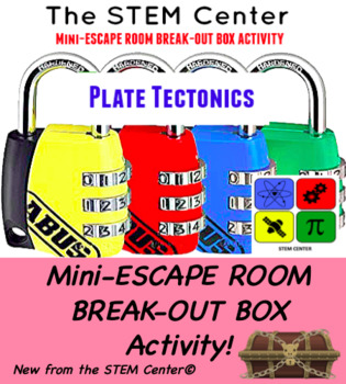 Plate Tectonics Mini Escape Room Break Out Box