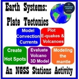 Plate Tectonics 5 Minilabs - Volcanoes, Earthquakes, Convection Currents, Mantle