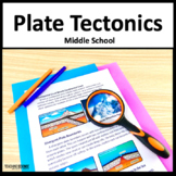 Plate Tectonics NGSS MS-ESS2-2 and MS-ESS2-3