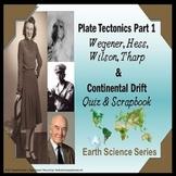 Plate Tectonics Part 1 Wegener Hess Tharp Continental Drift Quiz Special Needs