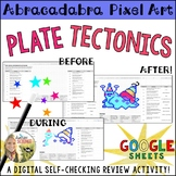 Plate Tectonics Pixel Art Digital Review Distance Learning