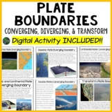 Plate Tectonics: Plate Boundaries: Digital Activity INCLUDED