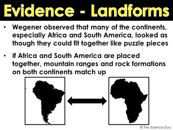 Plate Tectonics - PowerPoint and Notes