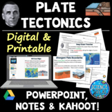 Plate Tectonics PowerPoint with Student Notes, and Kahoot!