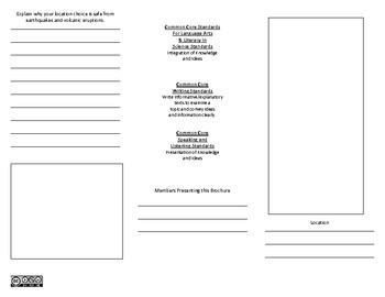 Plate Tectonics Presentation Brochure - CCSS