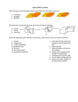Plate Tectonics Quiz