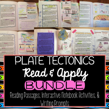 Plate Tectonics Read and Apply Interactive Notebook BUNDLE