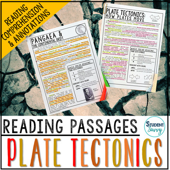 Plate Tectonics Reading Passages - Questions - Annotations