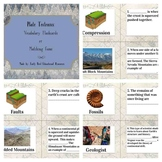 Plate Tectonics Review: Flashcards, Vocabulary Cards, or M