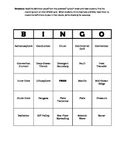 Plate Tectonics - Review Game - Vocabulary BINGO