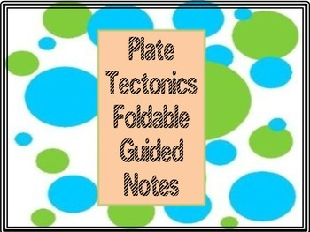 Plate Tectonics Science Notebook Foldable