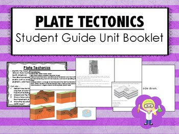 Plate Tectonics Science Unit Overview Student Booklet (STAAR questions)