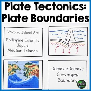 Plate Tectonics Sorting Cards