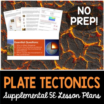 Plate Tectonics - Supplemental Lesson - No Lab