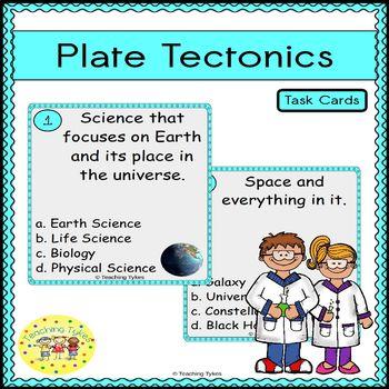 Plate Tectonics Task Cards