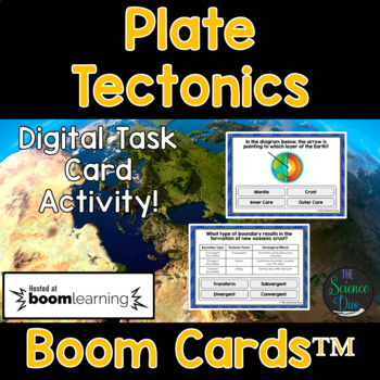 Plate Tectonics Task Cards - Digital Boom Cards™