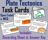 Continental Drift/ Plate Tectonics Task Cards: Earthquakes, Faults, Hot Spot etc