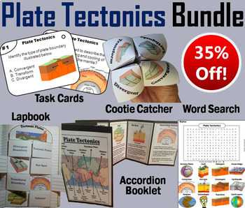 Contindental Drift and Plate Tectonics Task Cards and Activities Bundle