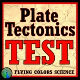 Plate Tectonics Test Assessment Middle School NGSS MS-ESS2-3