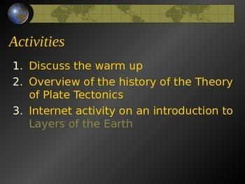Plate Tectonics Theory Powerpoint