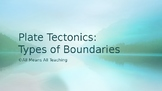 Plate Tectonics - Types of Boundaries